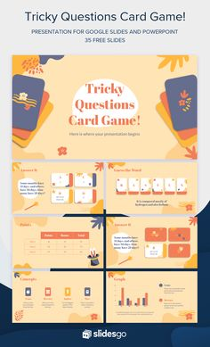 Cute Powerpoint Templates, Creative Powerpoint Presentations, Slide Design, Web Design, Book Design, Presentation Design Template, Presentation Layout, Graphic Design Lessons, Tricky Questions