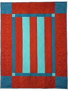 Five Bar Blues an award winning quilt by machine quilting instructor Diane Loomis A very good tutorial