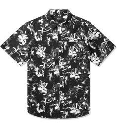 Black Floral S/S Woven Shirt