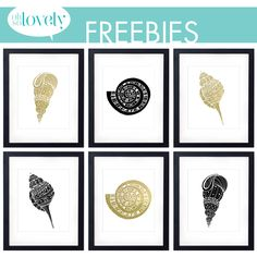 Oh So Lovely: FREEBIES // SEA SHELL GLAM