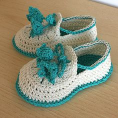 Instant Download (PDF file) CROCHET Pattern - Baby Shoes Summer Bells ( 0-6 /6- 12 months)