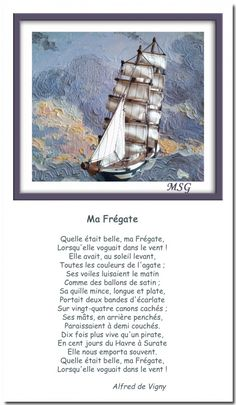Ma frégate - Alfred de Vigny