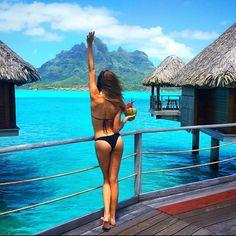 Josephine Skriver -- in Bora Bora for Victoria's Secret, October 2015 Bora Bora, Tahiti, Josephine Skriver, Balmain, Fendi, Versace, Saint Barth, Road Trip, Harper's Bazaar