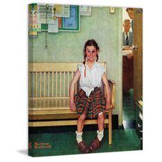 """Marmont Hill - """"Shiner"""" by Norman Rockwell Painting Print on"""