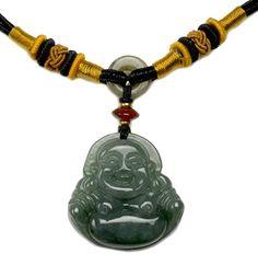 Elegante Glücklich Buddha Chinesen Jade Halskette, mit handgeknüpften Verstellbarer Kordel 42 -62 cm- Fortune Jade Schmuck Feng Shui & Fortune Jewelry http://www.amazon.de/dp/B00SQ099AI/ref=cm_sw_r_pi_dp_oSsXub00XHZJC