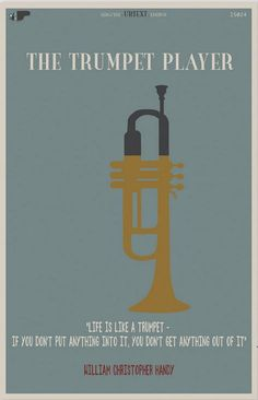 The trumpet player - Classical Music Poster