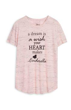 T-shirt Disney Cendrillon rose