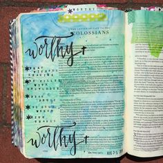Bible journaling, Colossians 1:9-10 — Arden Ratcliff-Mann #illustratedfaith