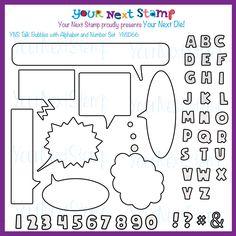YNS Talk Bubbles Die Set [YNSD66] - USD27.20 : Your Next Stamp