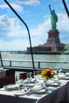 NYC on the Hudson - Dining in front of the Statue of Liberty
