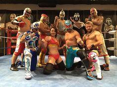 Ryukyu Dragon Pro Wrestling with Hibiscus Mii right in the middle. http://joshipuroresu.blogspot.com/2016/06/hibiscus-mii-japanese-female-wrestling.html
