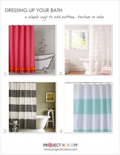 Don't forget the kids bathroom - oh what a difference a shower curtain makes!
