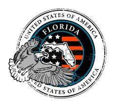 Grunge sello de goma con el nombre de la Florida