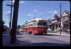 TTC Toronto original rail slide PCC # 4561 taken 1974