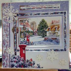 "Christmas Card (15) - 8""x8"" - makings from Hunkydory 'Snowy Season'"