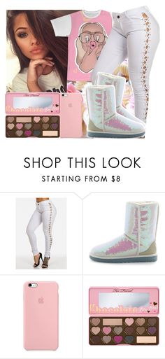 """""""Read Description for a shoutout✨💖💖"""" by jjaylaspin ❤ liked on Polyvore featuring UGG Australia and Too Faced Cosmetics"""
