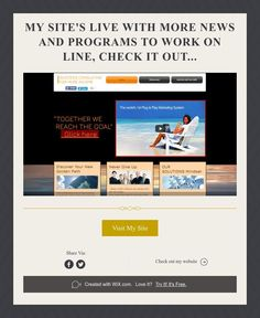 My Site's Live with more news and programs to work on line,Check It Out...