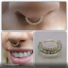 Septum piercing by Jesse Villemaire of Thrive Studios. Jewelry by BVLA.