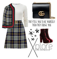 """""""#Don'tLetPeopleJudgeYou"""" by juromi ❤ liked on Polyvore featuring Allude, Gucci and Jimmy Choo"""