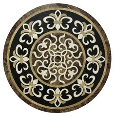24 Brown Marble Round Pietradura Table Top Gemstone Art Inlay Living Home Decor Stone Cladding, Floor Patterns, Stone Mosaic, Living Room Art, Floor Design, House Design, Furniture Decor, Centerpiece, Table Settings