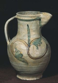 Medieval pottery jug from Cydweli Castle 1275-1320