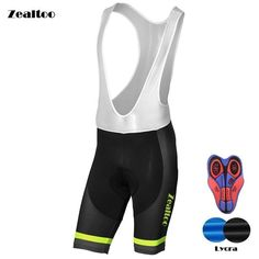 62e54545a Zealtoo Cycling Culotes Summer Cycling Bib Shorts Coolmax 9D Gel Pad Bike  Bib Tights Mtb Ropa