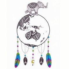 Colourful World Globe Dream Catcher