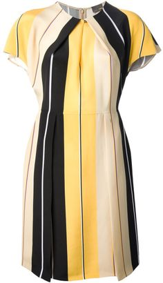 Fendi Yellow Striped Dress