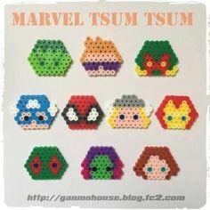 Marvel tsum tsum perler beads