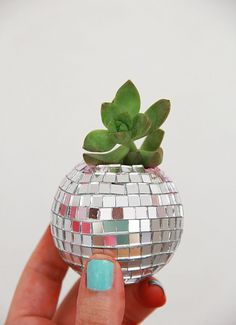 A Bubbly Life: DIY Disco Ball Succulent Planters