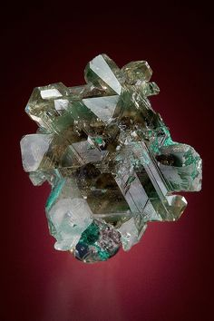 Cerussite with Malachite inclusions  Tsumeb Mine, Tsumeb, Namibia  Miniature: 3.6 x 2.8 x 2.1 cm
