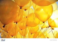 Amarelo para festejar.