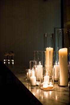 Assorted height pillar candles from Table Art.  Photography by Sarah Wood.  www.tableart.com.au