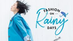 雨の日ファッション特集 Lookbook Design, Ad Layout, Logos Retro, Fashion Banner, Adobe Illustrator, Fashion Templates, Web Banner Design, Web Inspiration, Fashion Graphic