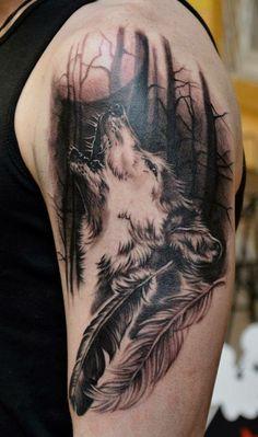 Tattoo Hombre Antebrazo Lobo 70 Ideas For 2020 Wolf Sketch Tattoo, Wolf Tattoo Sleeve, Wolf Tattoo Design, Arm Tattoo, Tattoo Designs, Band Tattoos, Top Tattoos, Side Tattoos, Badass Tattoos