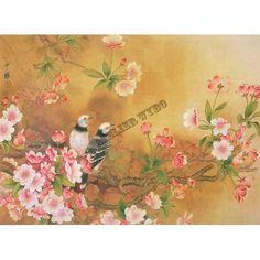 2 Serviettes en papier Invité Fleur Papillon Asie Decoupage Paper Napkins Asia