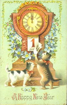 New year cats 2  For more holiday cats, visit https://www.facebook.com/funholidaycats