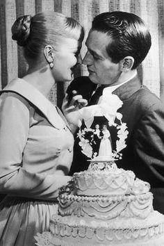 Joanne Woodward e Paul Newman. #wedding #LasVegas