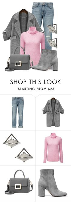 """""""Untitled #1434"""" by lchar ❤ liked on Polyvore featuring Current/Elliott, ADORNIA, Pure Collection and Gianvito Rossi"""