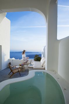 Native Eco Villa - Santorini, Greece  Built with... | Luxury Accommodations