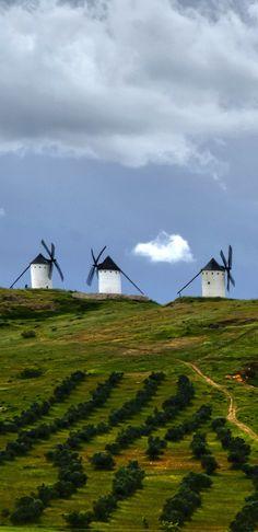 Windmills, Alcazar de San Juan, Ciudad Real, Spain (Photographer: Fernando Rayo)