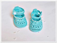 Baby blue shoes Crochet baby shoes Baby sandals Newborn baby shoes  Crochet Baby girls Made to order (18.90 USD) by ROSSIBOUTIQUE