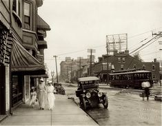 View looking east on Delmar Boulevard from Kingshighway Boulevard. Photograph by W.C. Persons, ca. 1914.