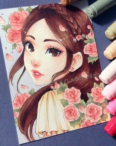 #imagenes #dibujo #mujer #mirada