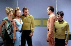 """Apparently Mr. Sulu fancies you.  I'll trade him for these two beauties, deal?"""