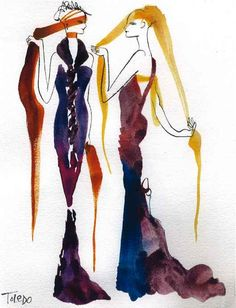Illustration Evening Gowns