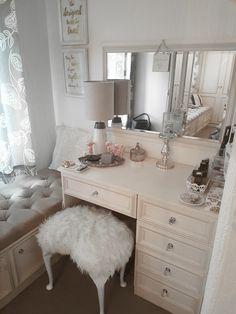 Dressing table, Bedroom Interior, Fluffy Stool, Vanity