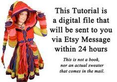 Dies ist eine bunte Ebook, den Leuten beizubringen, wie sie gehen können, über ihren eigenen Stil Katwise Elf-Mantel zu machen.  Dieses Angebot gilt für
