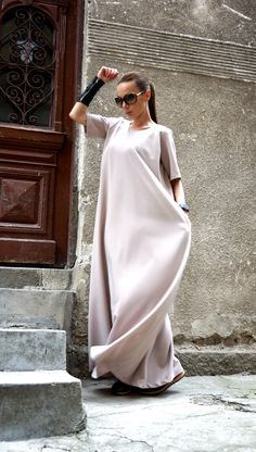 NEW Maxi Dress / Powder Pink Kaftan / Extravagant Long Dress / Party Dress / Daywear Dress by AAKASHA A03391 by Aakasha on Etsy https://www.etsy.com/ca/listing/271395917/new-maxi-dress-powder-pink-kaftan