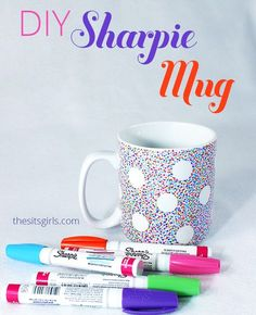 Turn your plain, boring coffee mug into something fabulous. If you follow the directions in this post exactly, you will have a DIY Sharpie Mug with a design that lasts! This is a great DIY gift.